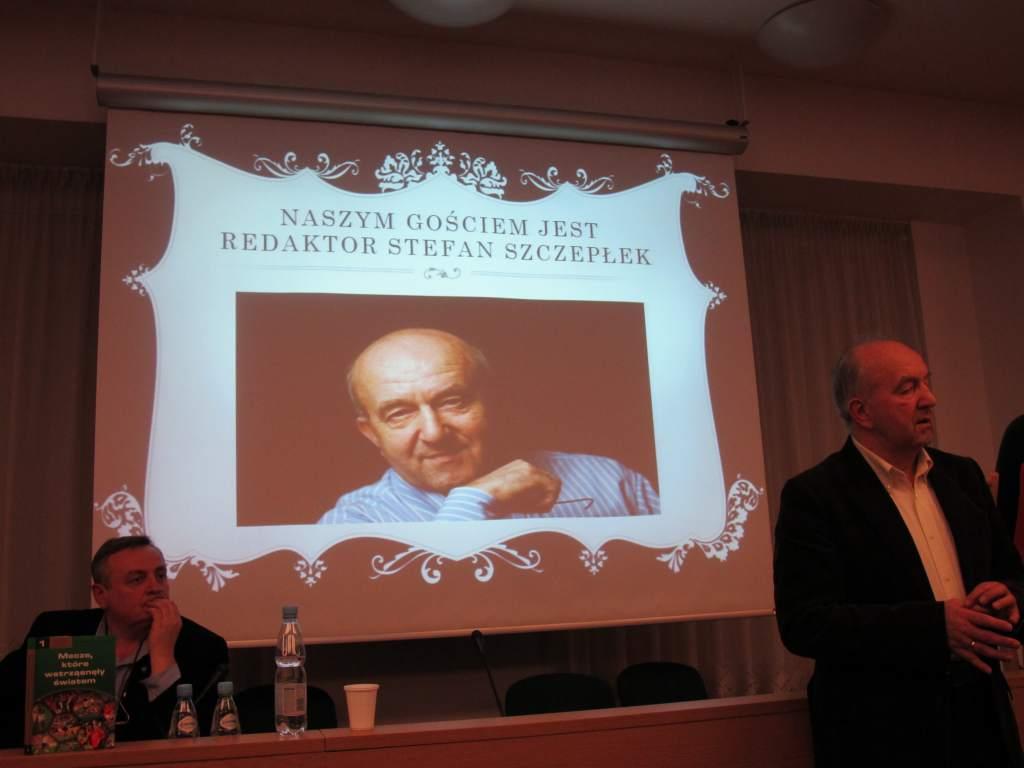 Spotkanie z Redaktorem Stefanem Szczepłkiem