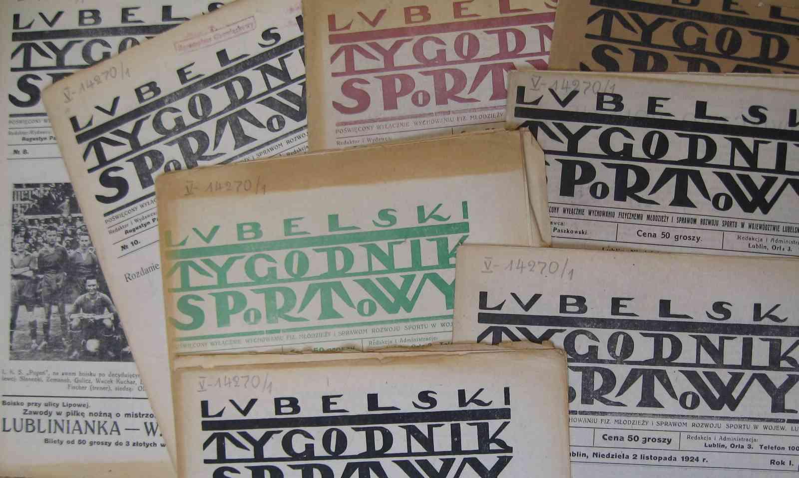 """""""Lubelski Tygodnik Sportowy""""  z lat 1924-1925"""