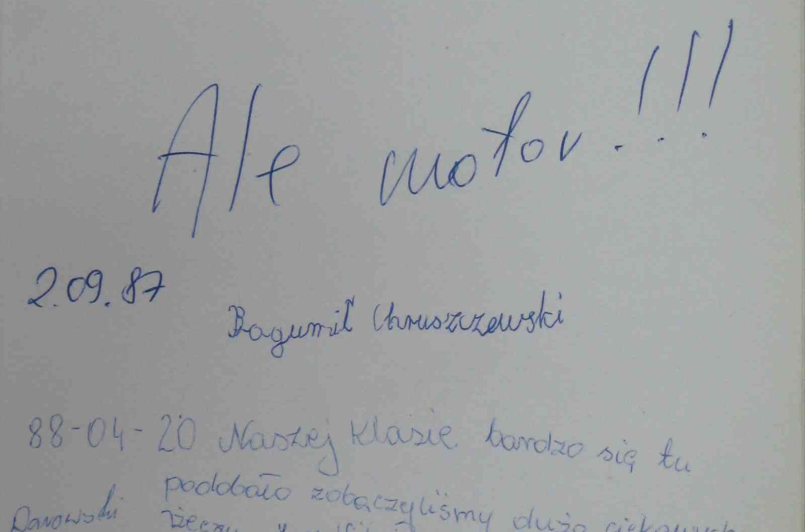 """""""Znudziło mi się tu, ale ciągle tu przychodzę""""  – księga pamiątkowa Muzeum Sportu w Lublinie"""