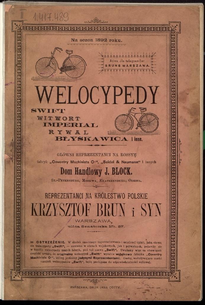 """""""Welocypedy i cykliści"""" – pdf"""