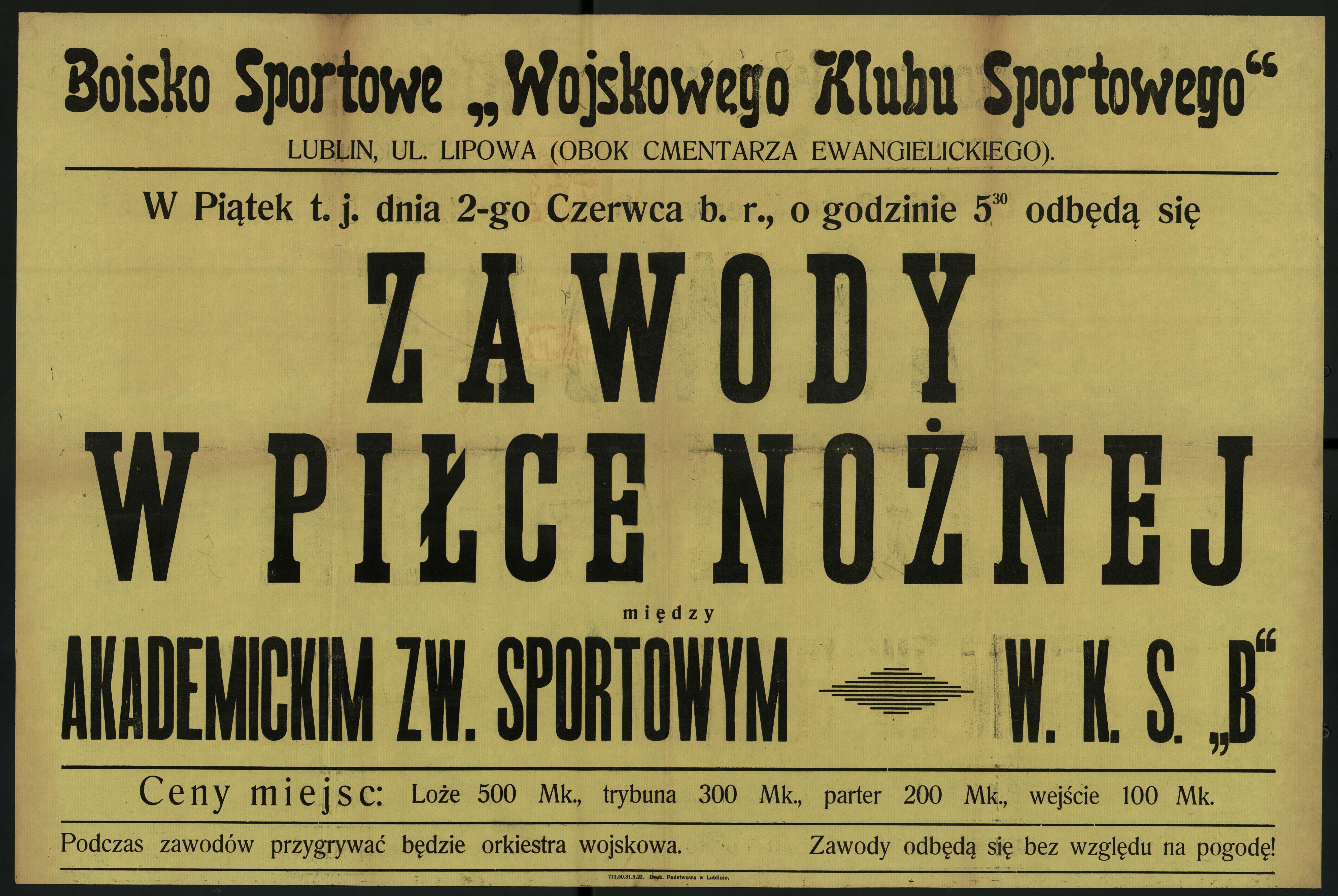Zbiór przedwojennych afiszów sportowych