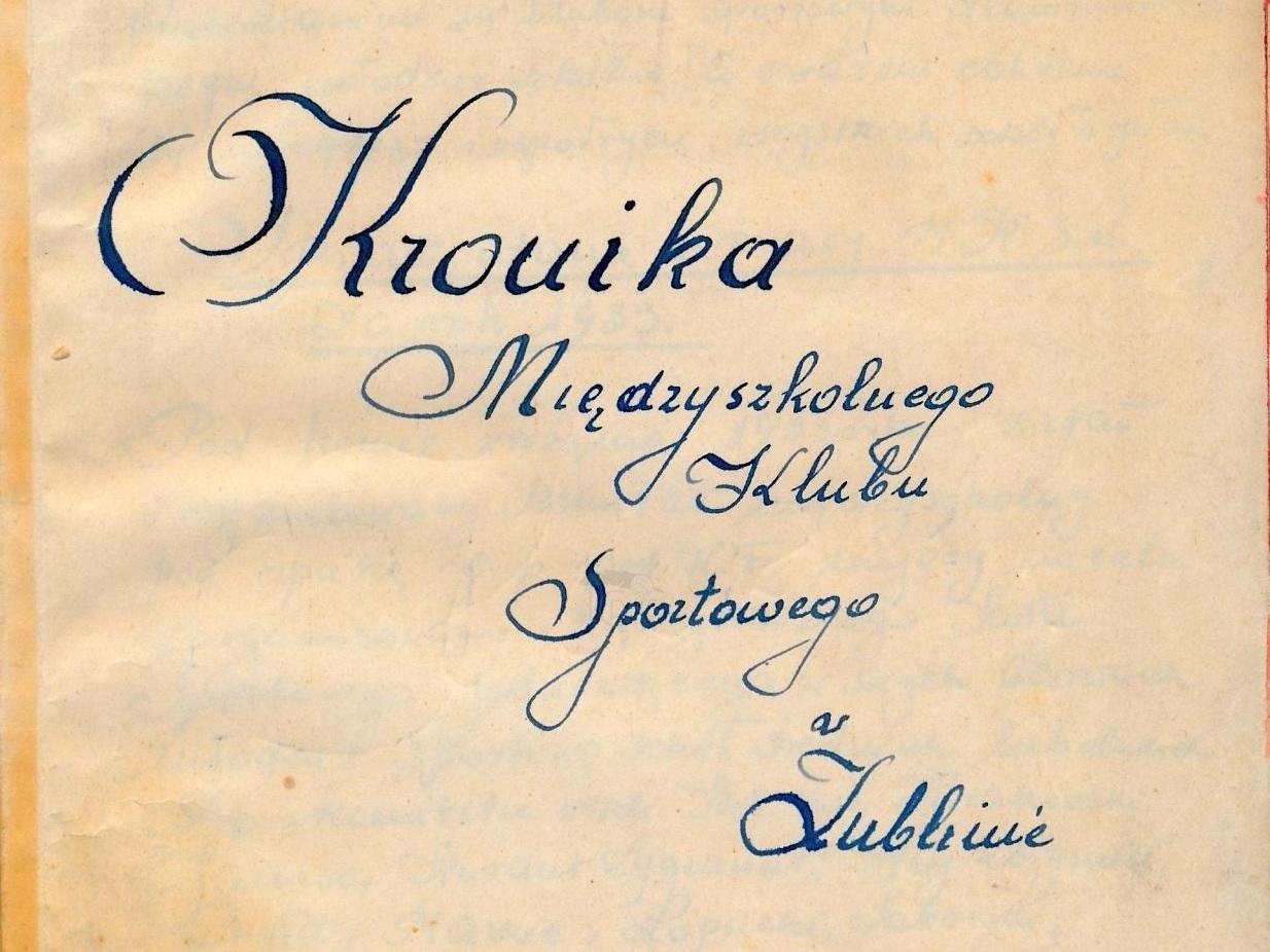 Kronika MKS Lublin 1933 – 1939 r.
