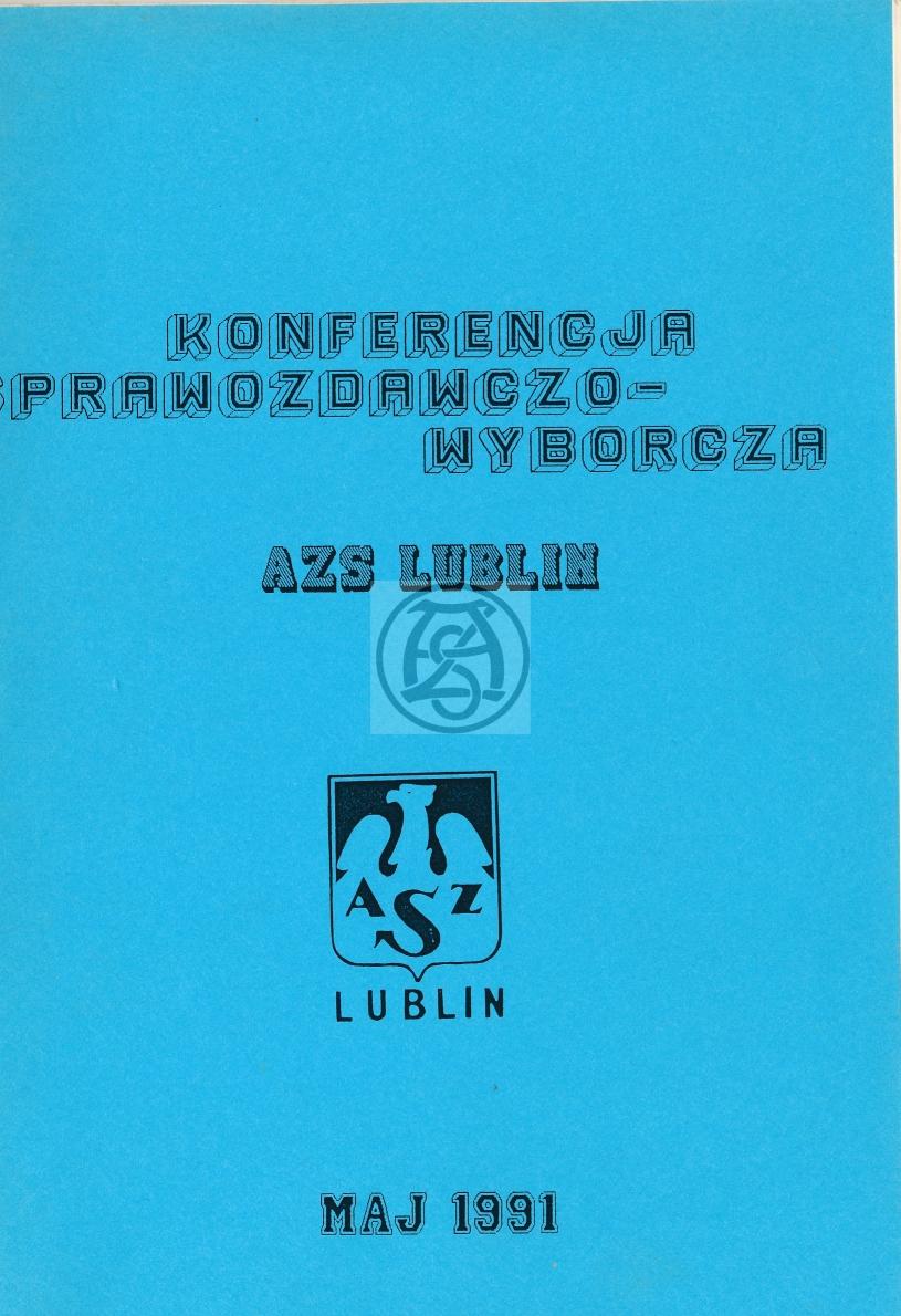 Sprawozdanie AZS Lublin za lata 1989 – 1991
