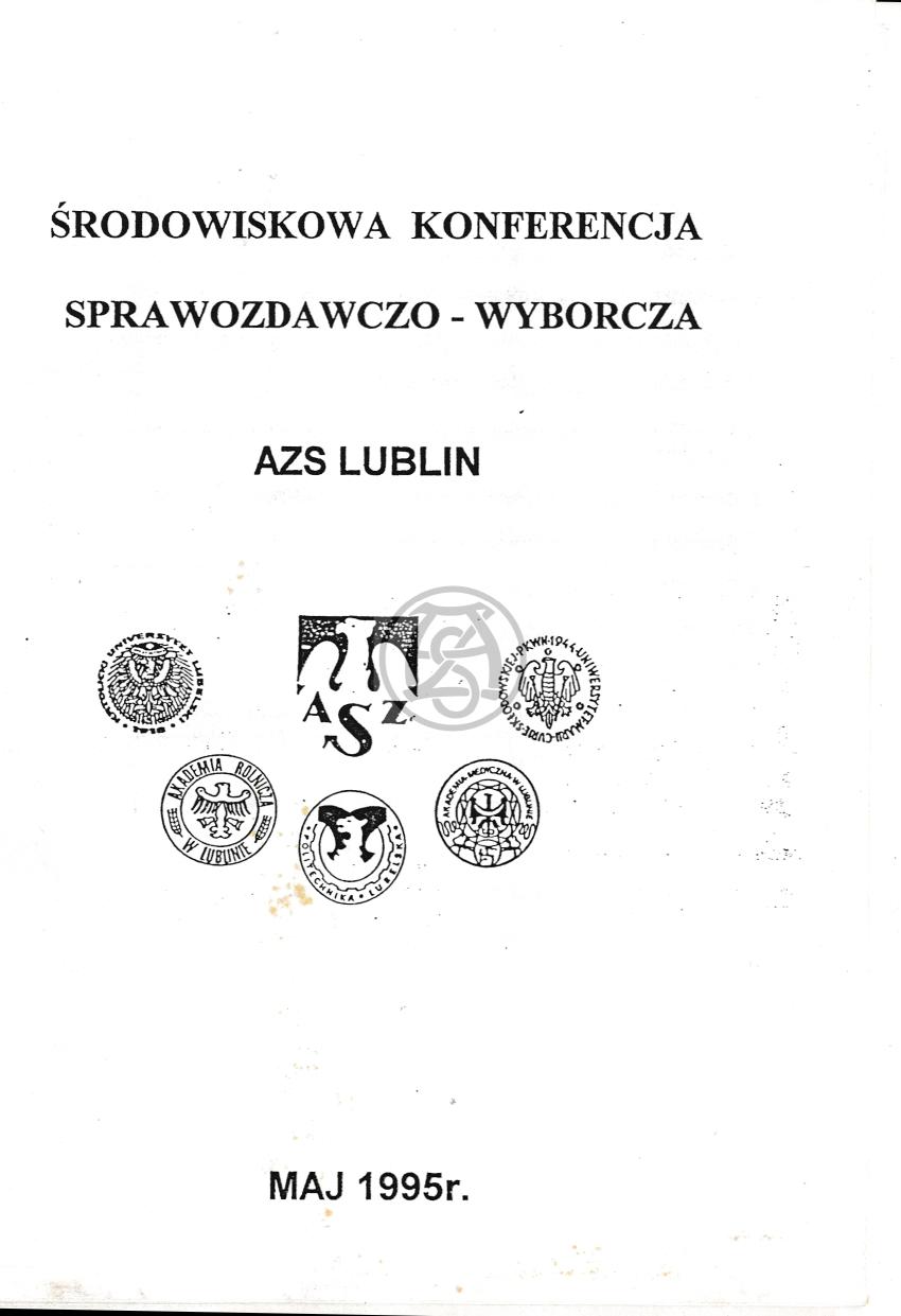 Sprawozdanie AZS Lublin za lata 1993 – 1995