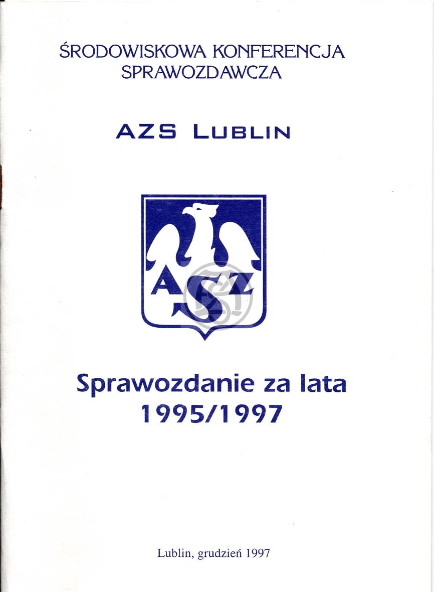 Sprawozdanie AZS Lublin za lata 1995 – 1997