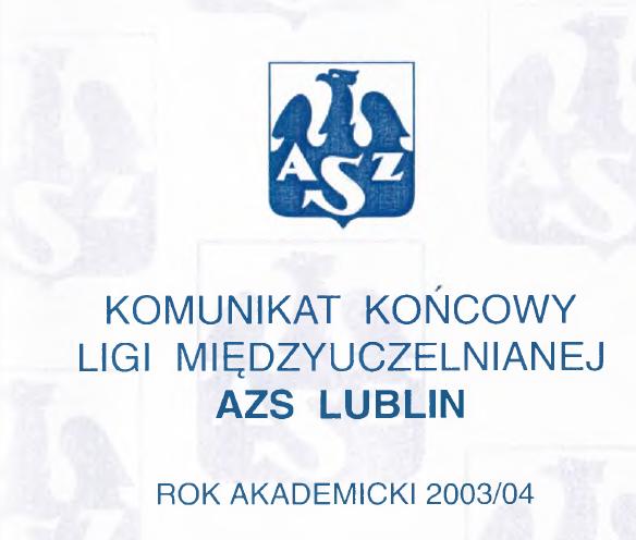 Komunikat Ligi 2003/2004