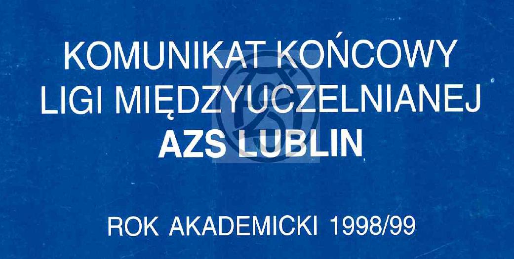 Komunikat 1998/1999