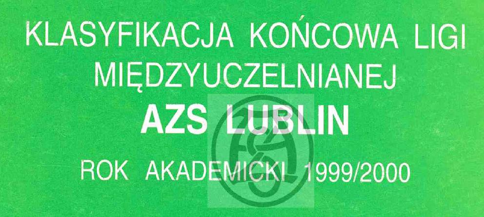Komunikat 1999/2000