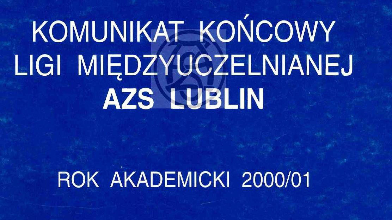 Komunikat 2000/2001
