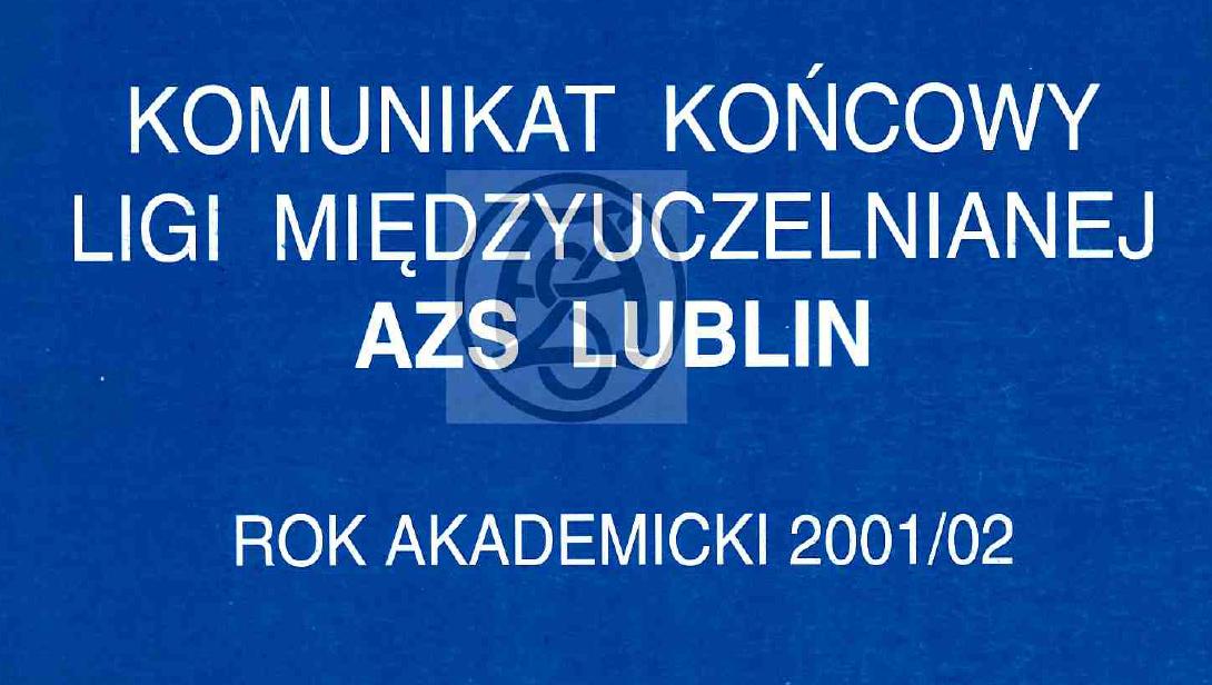 Komunikat 2001/2002